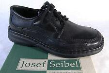 Seibel Herren Schnürschuhe, Halbschuhe Sneakers schwarz, Leder NEU!