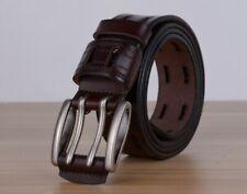 Cinturón De Cuero Para Hombres Jeans Correa Hebilla Macho Vintage Vaquero Alta Calidad Genuino