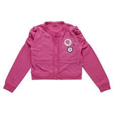 Neu Bolero Mädchen Jacke Sweatjacke 104 110 116 122 128 140 Pailetten Pink
