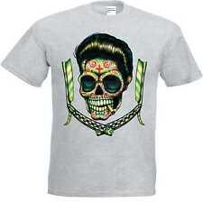gris camisa T Sudaca Rockabilly- & `50 Stylemotiv Modelo sudaca Hojas