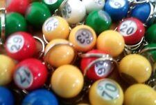 Mini Bingo Ball Keychains  B1 - O75  Individual or Complete Set of 75 Keychains
