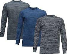 Mens Crew Neck Soft Knitwear Jumpers Sweater Pullover Varsity Sweatshirt M - XXL