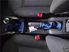Se adapta a Astra H MK5 Gear + Freno de mano polainas de cuero negro y azul