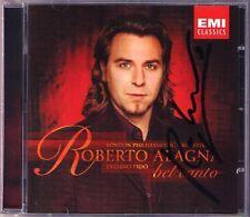 Roberto ALAGNA Signiert BEL CANTO Donizetti Bellini CD La Favorite I puritani