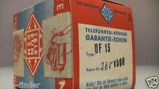 UF15 Röhre Tube -Telefunken-UF15-NEW-SEALED-BOX > VF14