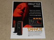 Tannoy D-700 Lautsprecher AD, 1996, 1 Seiten, Artikel, schön!