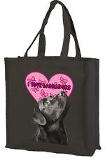 Nero labrador Cotone Shopping Bag, ADORO Labrador-scelta di colori.