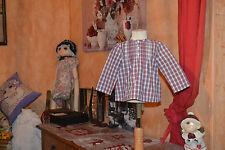 blouse cyrillus  12 mois  carreaux manches longues tres printemps