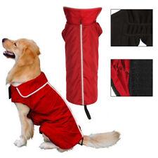 Wasserdichte Hundemantel Jacke Gefüttert Fleece Wärmere Regenmantel Hundejacke