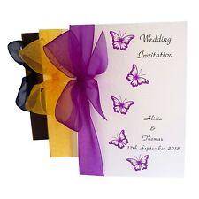 Wedding Invitations - Personalised, Handmade, Sidefold with Envelopes