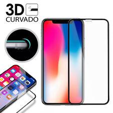 """Protector Cristal Templado Completo 3D 4D con Curvo para iPhone X 5,8"""" PREMIUM"""