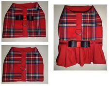 Dog Harness  Vest in Red Tartan