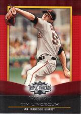 "2011  TOPPS ""TRIPLE THREADS""  BASE (RED)  #45  TIM LINCECUM  0859/1500"