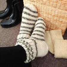 3059fdedac8 Women s Hand knitted Sheep Wool Thermal Socks Wellington Wellies Boot Liners