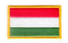 Toppe Toppa PATCH UNGHERIA 7x4,5cm Bandiera banderina ricamata termoadesivo