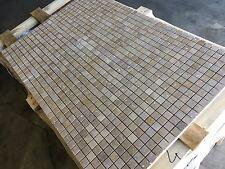 Travertine Mosaic, Noce Honed Filled Mosaic Tiles, 25X25MM  Mosaics