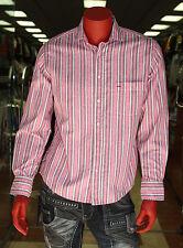 Men's Rufus Pink/White/Brown Long Sleeve Button Down Shirts