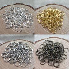 4mm/5mm/6mm/7mm/8mm/9mm/10mm/12mm Jump Rings Open Connectors Jewelry Making DIY