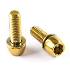 Titan Schrauben - Innensechskant konischer Kopf - mit Unterlegscheibe - Gold