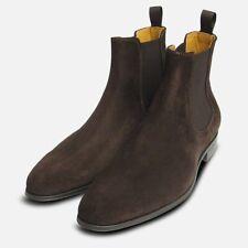 Brown Suede Italian Chelsea Boots for Men