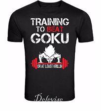 Train Insaiyan Gym T-Shirt Training to Beat Goku or Krillin DBZ Dragon Ball S-4X