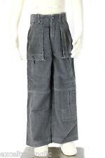 JACADI Boy's Redress Zinc Gray Corduroy Cargo Style Pants Size 4 Years NWT $66