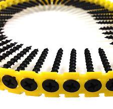 Raccolti basso filettatura NERO Drywall - 25, 32, 35, 38, 45, 50, 55, 65 & 75mm