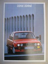 Prospekt BMW 324d 324td E30 Limousine Modelljahr 1988 1989 deutsch