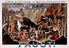 M43 Vintage Faust Teufel Magie Theater Plakat A1 A2 A3