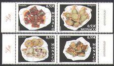 Monaco 2005 Europa/Gastronomy/Food/Cakes/Cooking/Baking 4v set (n37092)