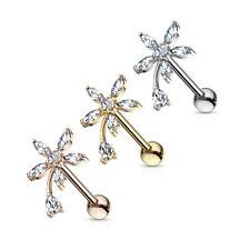 Tragus piercing-corona escudo circonita piercing Barbell oreja Helix vara #412