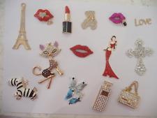 3D Diamantes Bling Rhinestone Alloy DIY Phone Case Handbag Dress Flower Lipstick