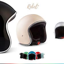 ⛑ REBEL R2 JET-HELM⸺ MOTORRAD-HELM ROLLER MOFA VESPA BANDIT BOBBER ⸺XS S M L XL