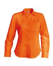 Chemise femme manches longues orange Kariban - K549