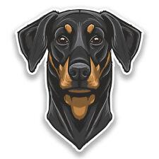 2 x Doberman Vinyl Stickers Animals Dog #7342