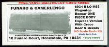 Funaro F&C 6934 BALTIMORE OHIO WagonTop B&O M53 REA EXPRESS Boxcar 1-PIECE BODY