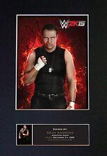Dean ambrose wwe signé monté autographe photo imprime A4 581