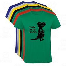 Camiseta T-Rex Hates Selfies Dinosaurio Divertida hombre tallas y colores