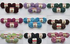 3x Cuddle Fleece Premier Yarn Skein LOT Deborah Norville 5 Bulky Dots - 10.5 oz