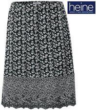 Nuevo: Wow! efecto lleno de floral-presión rock 36 38 40 Heine negro blanco * 052022