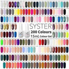 15ml SYSTER NEW 200 Colours Nail Art Soak Off Gel Polish Manicure UV / LED Lamp