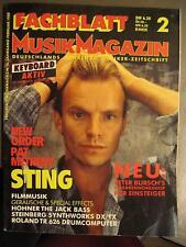 FACHBLATT MUSIK MAGAZIN 1988 # 2 - STING NEW ORDER PAT METHENY ROLAND TR 626