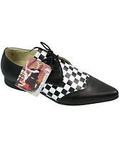 Underground shoes winkelpicker Pikes Pointu Chaussure Checkerboard Chess #5111