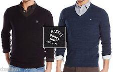 NWT $128.00 Diesel LOGO Lightweight Solid V-Neck Pullover Sweater