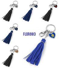 NFL,NBA,MLB Team Leather Tassel Key Chain Purse/Hand Bag Charm