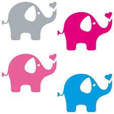 Elefant 10cm Aufkleber Kinder Zimmer Möbel Auto Fenster Tür Spiegel Deko Folie