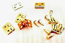 Small Hinges Brass Dolls House Door Jewellery Box Lid + Pins Multi List