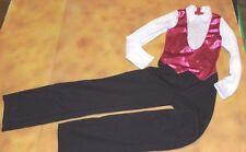 NEW Unisex Jumpsuit looks like Vest shirt pants Boys sizes hot pink foil Zipper