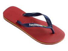 Infradito Havaianas brasil logo uomo donna rosso sandali ciabatte mare in gomma