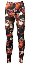 Occulte Pentagramme OS Crâne Cornu Ramones Fire Alternative Leggings Imprimé